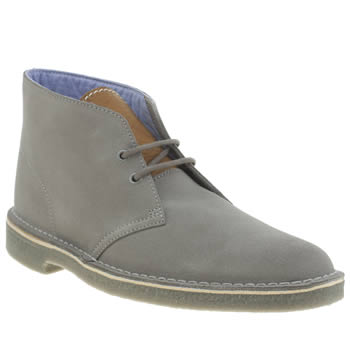 Clarks Originals Light Grey Desert Herschel 2 Boots