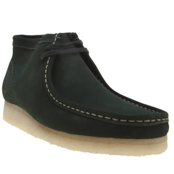 Clarks Originals Dark Green Wallabee Mens Boots