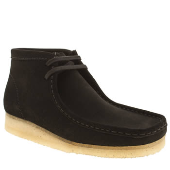Mens Clarks Originals Black Wallabee Boots