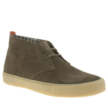 Mens Clarks Originals Dark Green Desert Vulc Boots