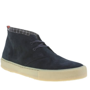 Clarks Originals Dark Blue Desert Vulc Boots