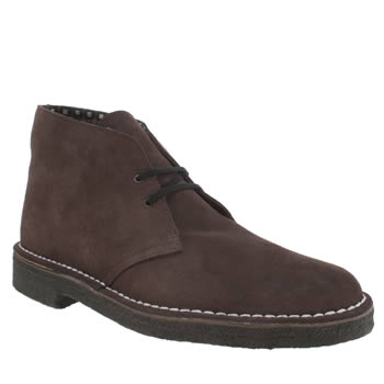 Mens Clarks Originals Brown Desert Rockn Boots