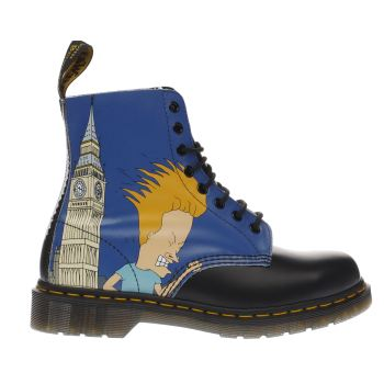 Dr Martens Black Beavis & Butthead 8 Eye Mens Boots