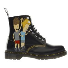 Dr Martens Black & White Beavis & Butthead 8 Eye Mens Boots