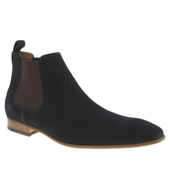 Paul Smith Shoe Ps Navy Falconer Boots