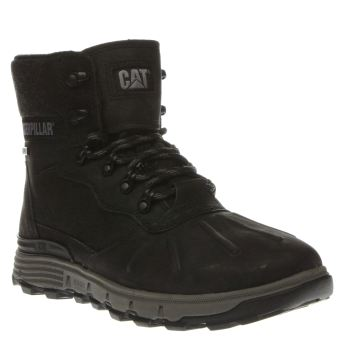 Cat-Footwear Black Sticton Hi Waterproof Mens Boots