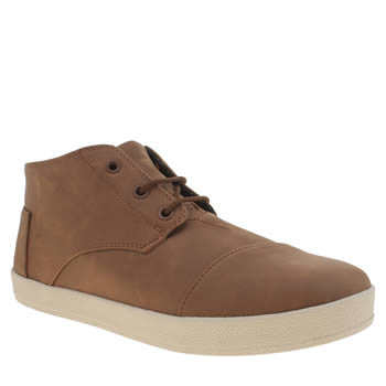 Mens Toms Brown Paseo Mid Boots