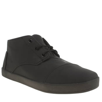 Mens Toms Black Paseo Mid Boots