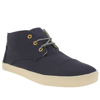 Mens Toms Navy Paseo Mid Boots