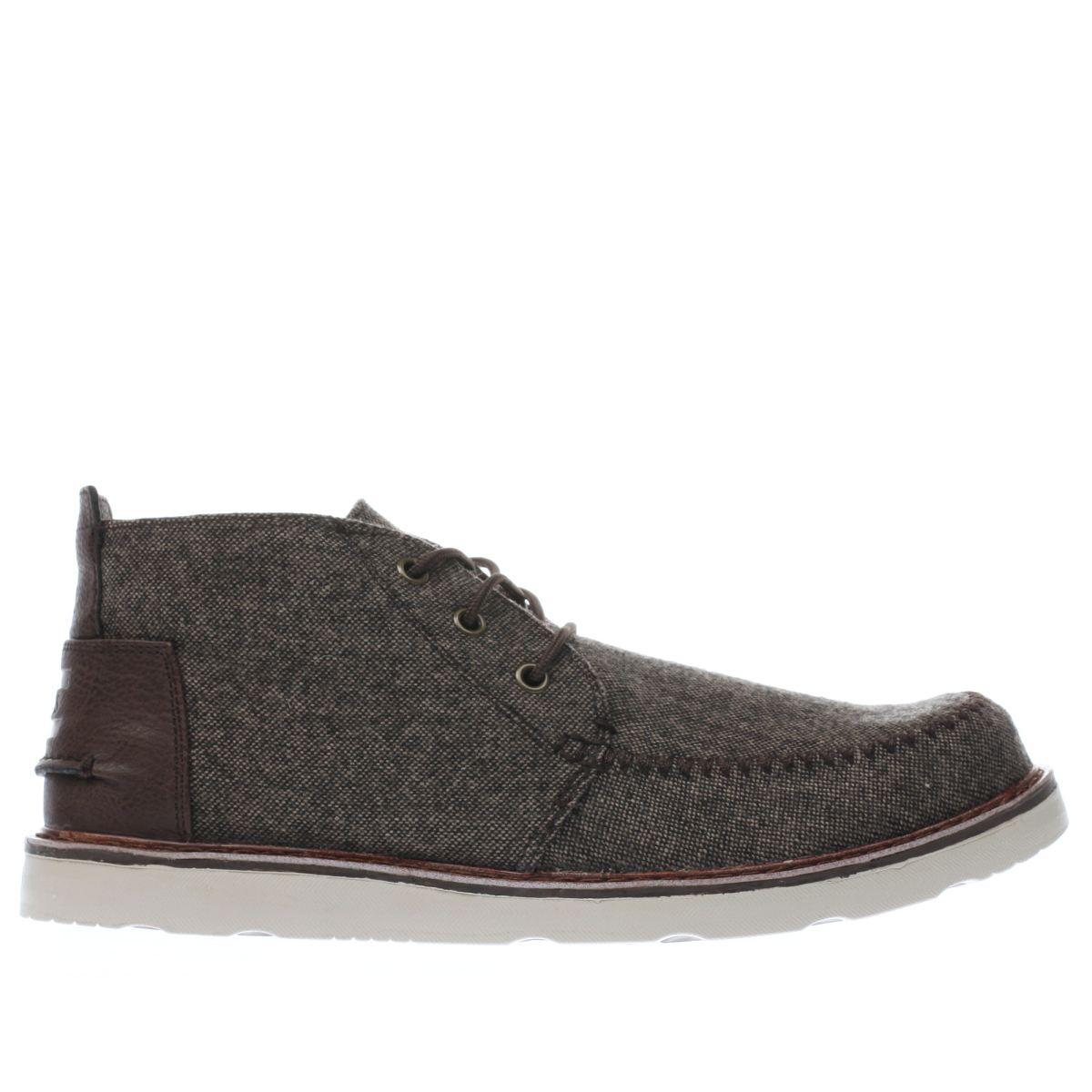 toms dark brown chukka boot boots