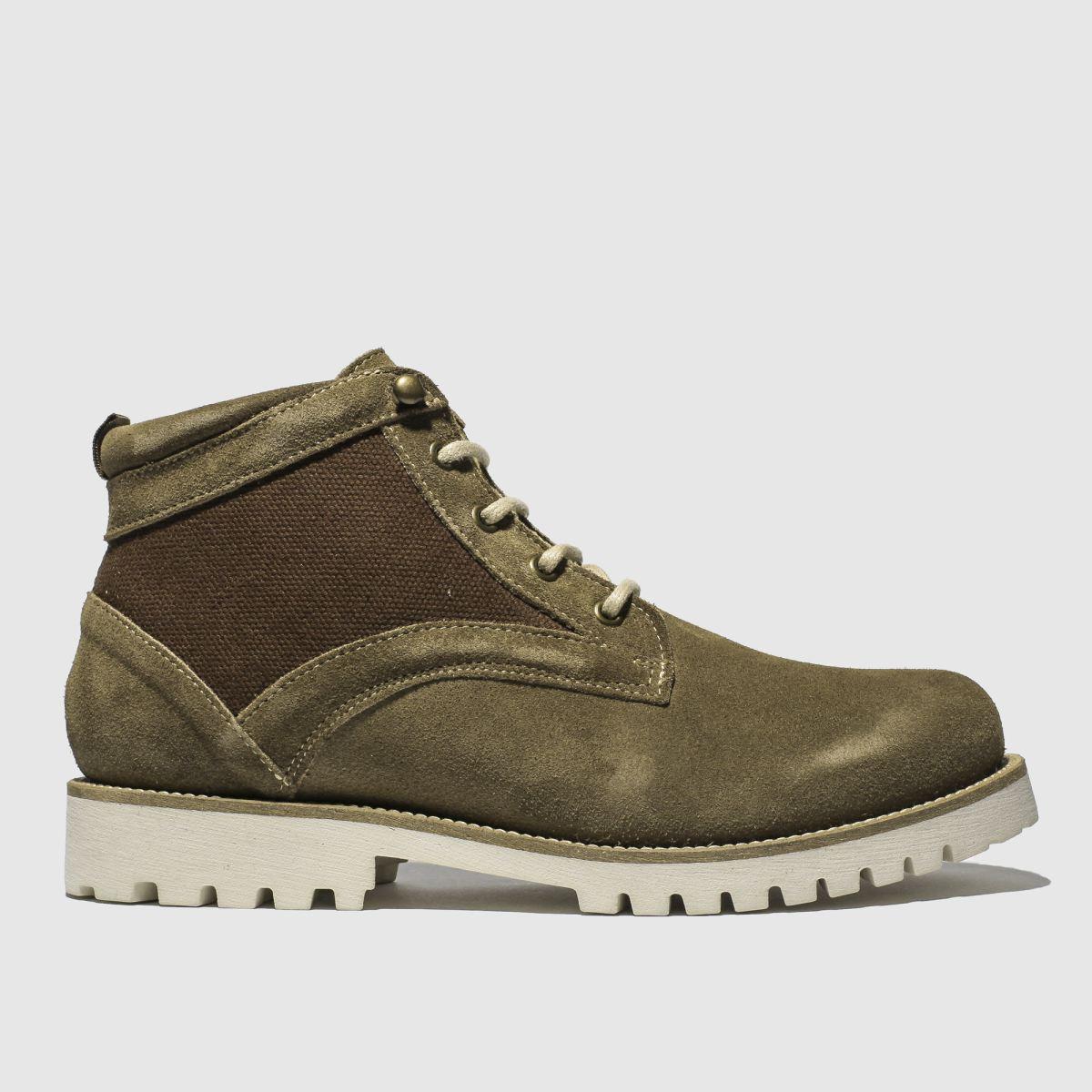 Schuh Tan Commander Mix Boots