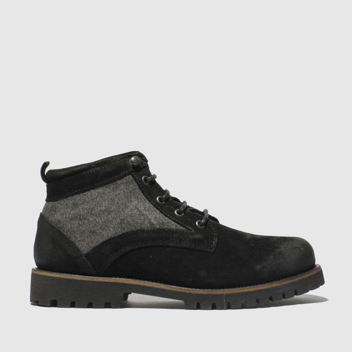 Schuh Black Commander Mix Boots