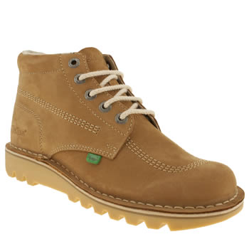 mens kickers tan hi boots