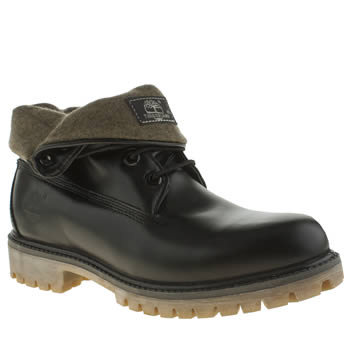 Timberland Black Icon Roll Top Hainsworth Boots