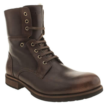 Mens Ugg Australia Dark Brown Larus Boots