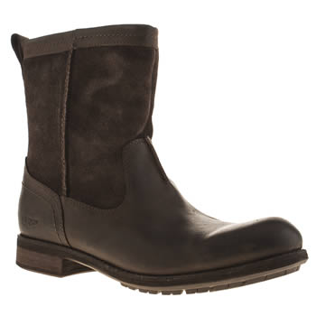 Mens Ugg Australia Dark Brown Lerette Boots