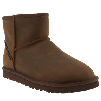 Mens Ugg Australia Brown Mini Deco Boots