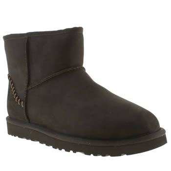 Ugg Australia Black Mini Deco Boots