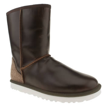 mens ugg australia brown classic short leather boots