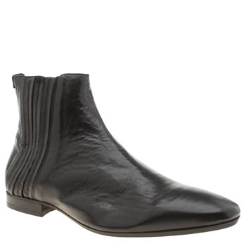 H By Hudson Black Larner Mens Boots