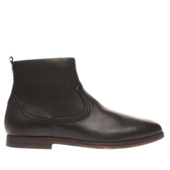 H By Hudson Black Lancing Mens Boots