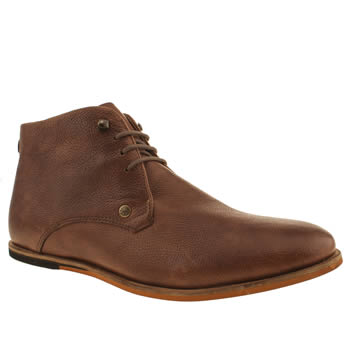 Mens Frank Wright Tan Smith Chukka Boots