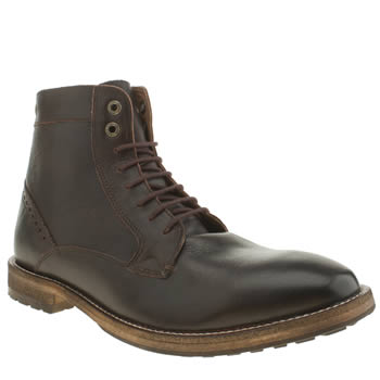 Mens Frank Wright Burgundy Acton Boots