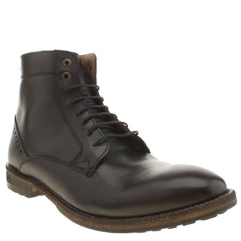 Mens Frank Wright Black Acton Boots
