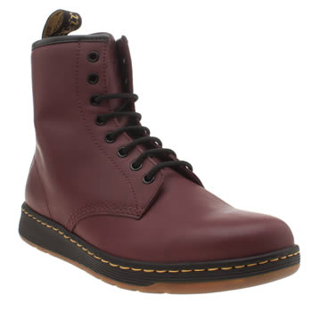 Dr Martens Burgundy Newton 8 Eye Mens Boots