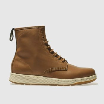Dr Martens Tan Newton 8 Eye Mens Boots