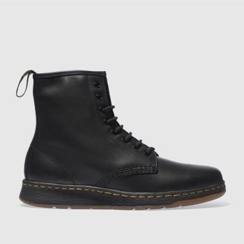 Dr Martens Black Newton 8 Eye Mens Boots