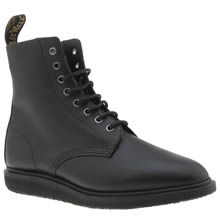 Dr Martens Black Whiton 8 Eye Mens Boots