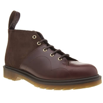 Dr Martens Dark Brown Church 7 Eye Monkey Mens Boots