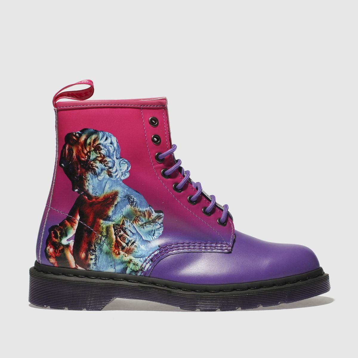 Dr Martens Pink & Purple 1460 Technique 8 Eye Boots