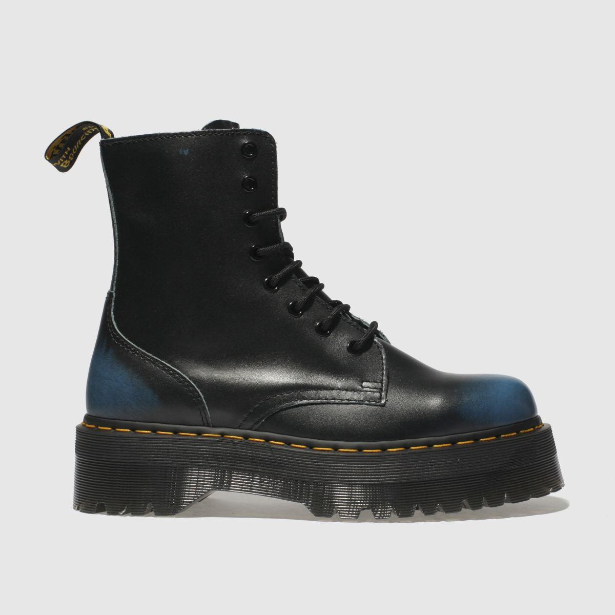 Dr Martens Black And Blue Jadon Vintage Nz Boots