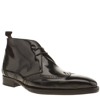 Jeffery West Black Capone Brogue Boots