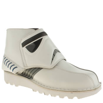 Mens Kickers White & Black Stormtrooper Boots