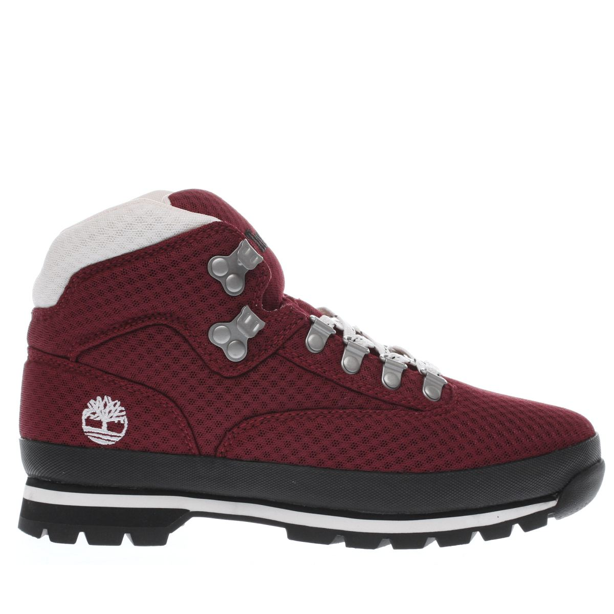 timberland red eurohiker mesh boots