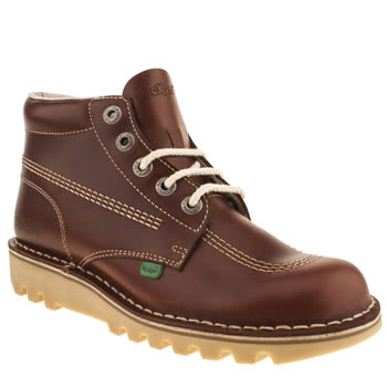 Kickers Tan Kick Hi Boots