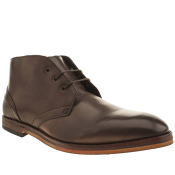 Mens H By Hudson Dark Brown Hallam Chukka 2 Boots