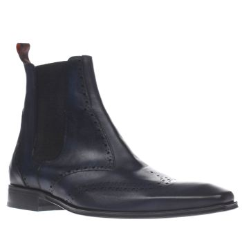 Jeffery West Navy Scarface Punch Chelsea Mens Boots