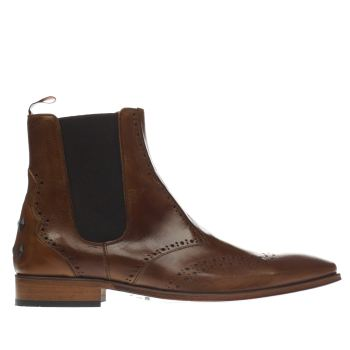 Jeffery West Brown Scarface Punch Chelsea Mens Boots