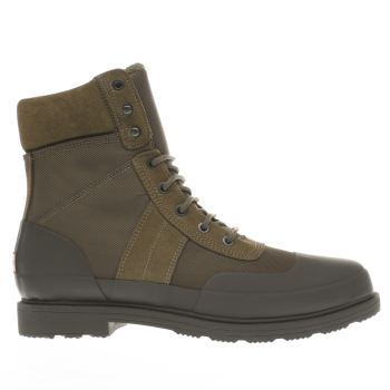 Hunter Khaki Insulated Commando Mens Boots