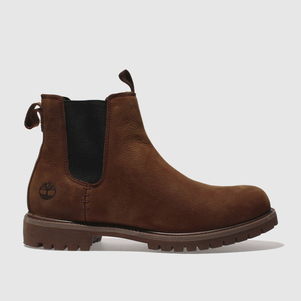 timberland dark brown premium chelsea boots