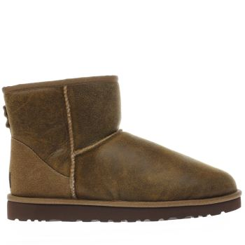 Ugg Tan Classic Mini Bomber Mens Boots