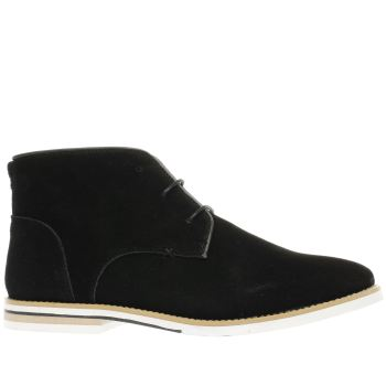 Peter Werth Black Nesbit Chukka Perf Mens Boots