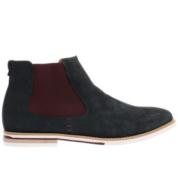 Peter Werth Navy Nesbit Chelsea Mens Boots