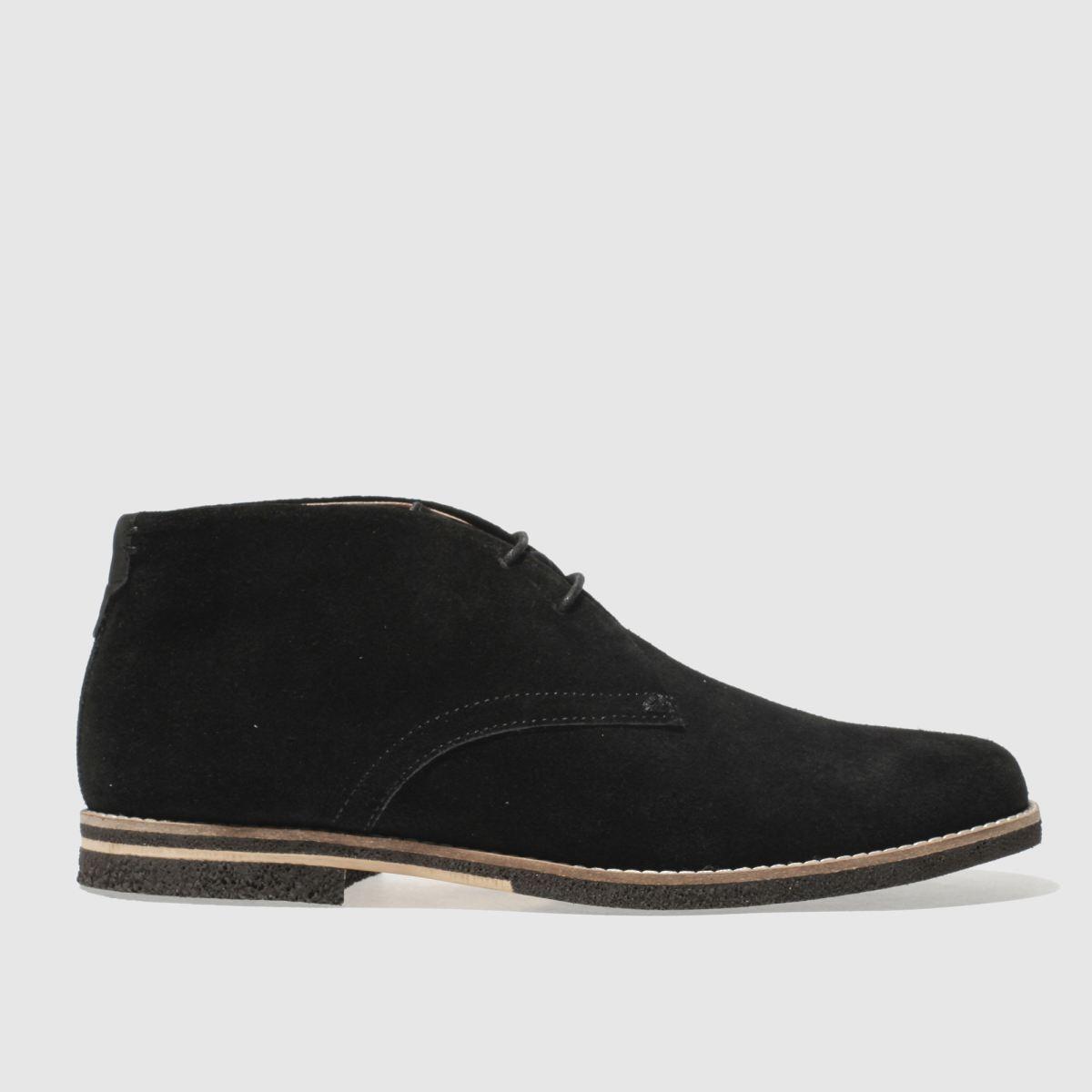 H By Hudson Black Aldershot Boots