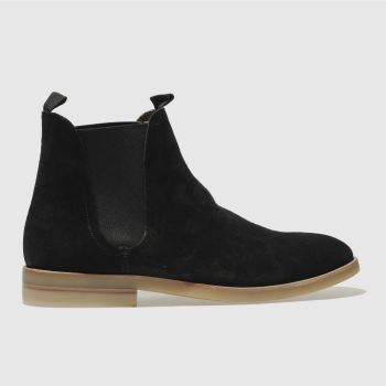 H By Hudson Black Adlington Mens Boots