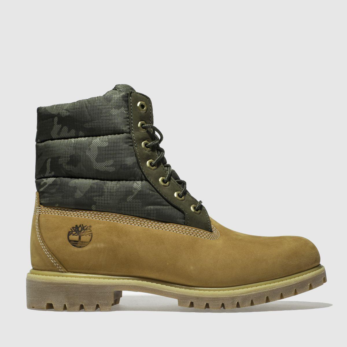 Timberland Tan Premium Puffer Boots